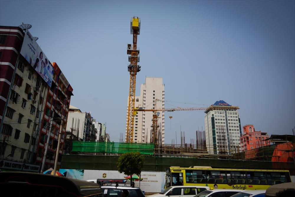 Several extensive construction projects opening up in Yangon. Photo: Joonas Lehtipuu/MFA