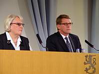 Director General Irma Ertman chaired the expert group that presented its findings to Prime Minister Matti Vanhanen.