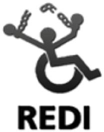 Logo de REDI, Red por los derechos de las personas con discapacidad de Argentina.