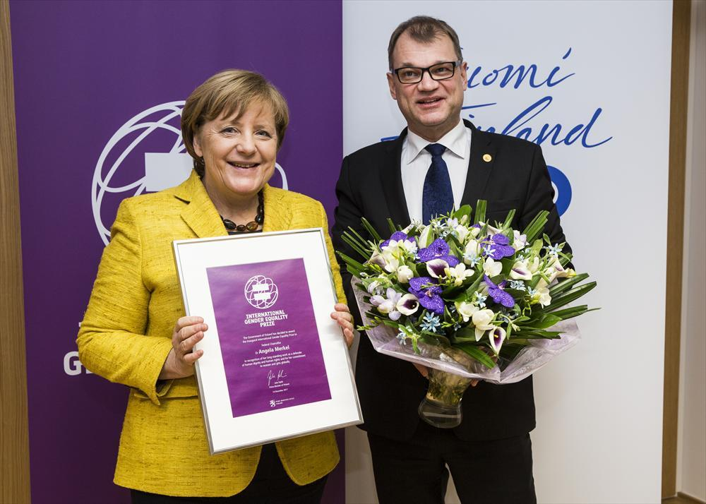 Angela Merkel IGEP Prize (photo Juha Roininen)