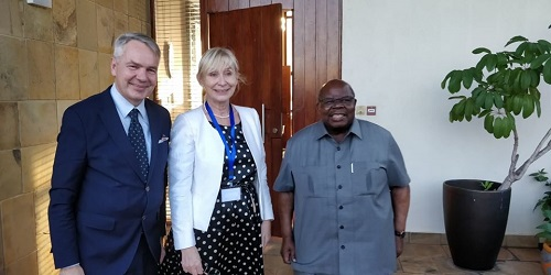 President Mkapa also met in November 2019 Minister of Foreign Affairs of Finland Mr. Pekka Haavisto in the framework of the Nordic and African Foreign Ministers Meeting.